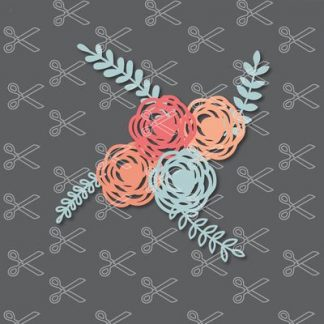 Flower SVG and DXF Cut Files