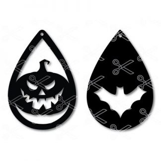 Halloween Tear Drop Earrings SVG and DXF