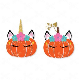 Unicorn pumpkin svg