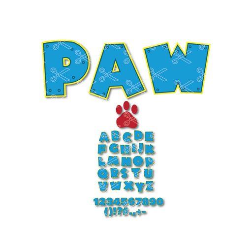 Paw Patrol Alphabet Font Svg Dxf Cut Files High Quality Premium Design