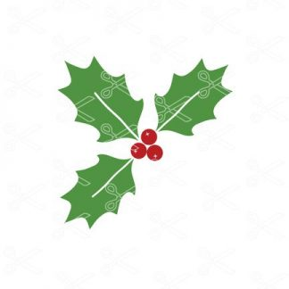 Christmas Holly SVG file 324x324 - Christmas Holly SVG Free