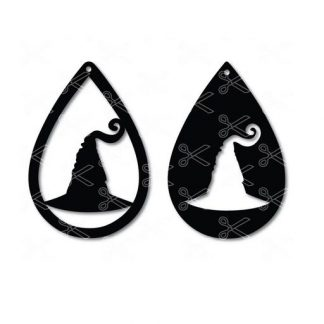 Halloween witch hat tear drop earrings svg and dxf cut file 324x324 - Halloween Witch TearDrop Earrings SVG DXF