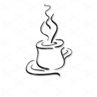 Coffee Cup SVG and DXF Cut files