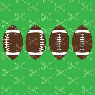 football earring bundle svg and dxf cut files 324x324 - Football Earrings SVG and DXF
