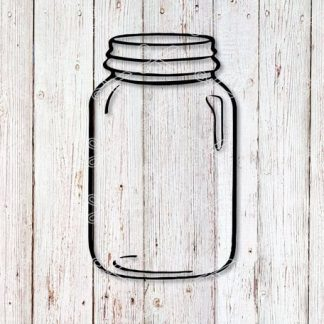 Mason Jar, Jam Jar, Smoothie Jar Svg snd Dxf Cut File