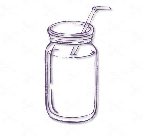 Mason Jar Svg Dxf High Quality Premium Design