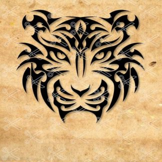 tiger head tatoo svg and dxf cut file 324x324 - Tiger Head SVG DXF