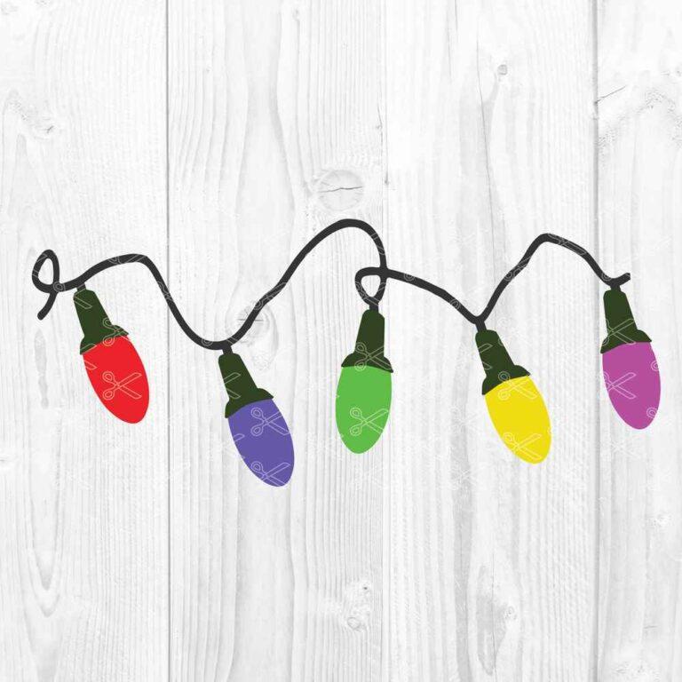 Christmas Lights Clipart SVG