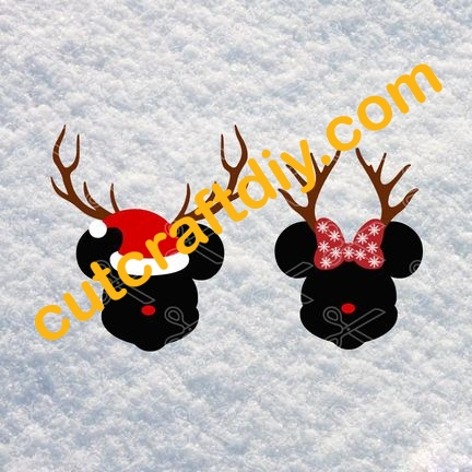 Christmas Mickey Mouse Svg Dxf Cut Files High Quality Premium Design