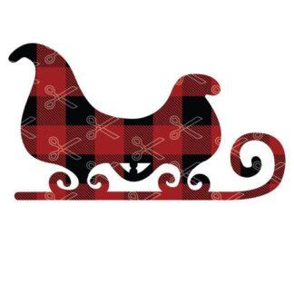 Christmas sleigh Santa sledges SVg and DXF Cut files 1 324x324 - Christmas Santa Sleighs Buffalo Plaid SVG and DXF Cut files