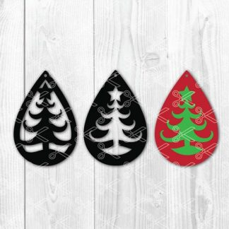 Christmas tree star tear drop earrings SVG and DXF Cut files 324x324 - Tear Drop Earrings SVG DXF