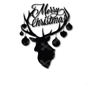 Merry Christmas Deer face SVG andDXF Cut files 324x324 - Merry Christmas Deer Face SVG DXF