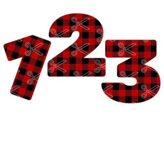Plaid numbers 1 to 10 SVG and DXF Cut files 324x324 - Plaid Numbers 1 to 10 SVG and DXF Cut files