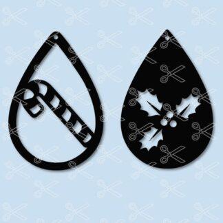 christmas holly tear drop earrings svg and dxf cut files 324x324 - Baseball TearDrop Earring SVG DXF