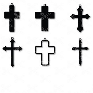 cross earrings svg and dxf cut files 324x324 - Cross Earring SVG and DXF Cut File