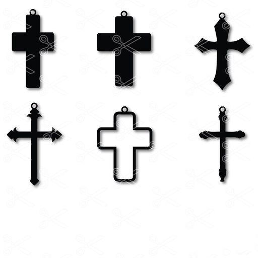 cross earrings svg and dxf cut files - Cross Earring SVG and DXF Cut File