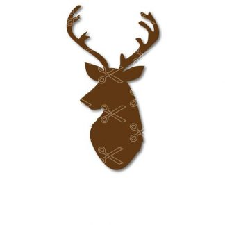 reindeer head svg and dxf cut files 324x324 - Deer Head SVG and DXF Cut files