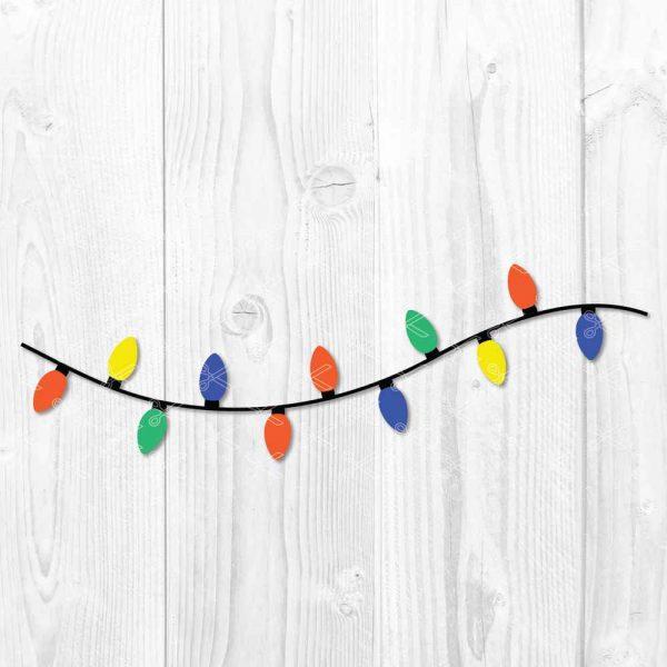 Christmas lights SVG