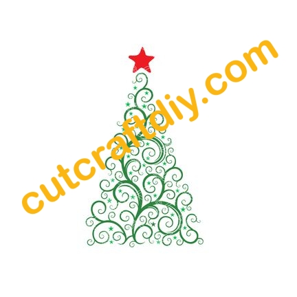 Christmas Tree SVG and DXF - Download SVG
