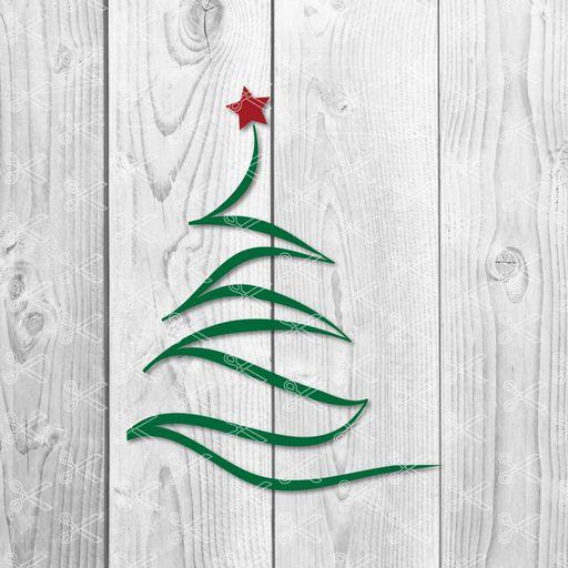 Hand Drawn Christmas Tree Svg Dxf High Quality Premium Design
