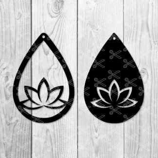 yoga earring svg file 324x324 - Yoga Earring SVG and DXF