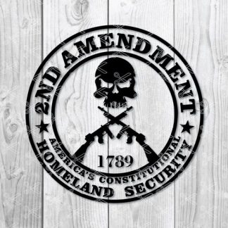 2nd Amendment SVG 324x324 - 2nd Amendment SVG PNG DXF Cut Files