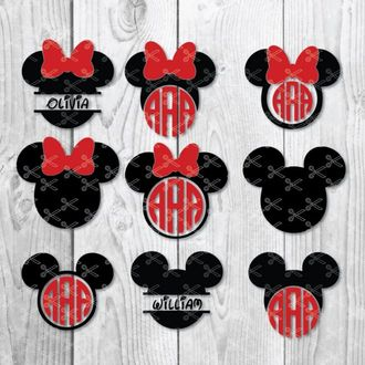 mickey and minnie monogram svg