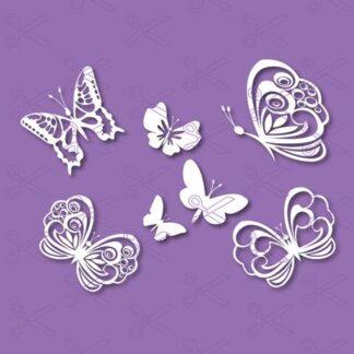 butterfly svg 324x324 - Butterfly SVG DXF Cut Files