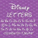 Disney Font SVG