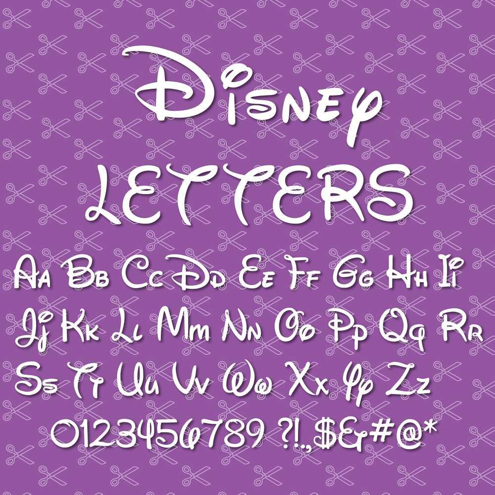 Walt Disney Letters SVG DXF Cut Files
