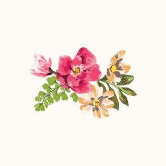 watercolor flowers svg