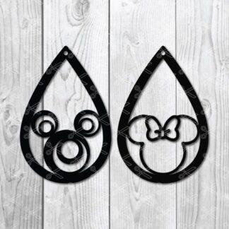 mickey minnie teardrop earrings svg 324x324 - Mickey TearDrop Earring SVG DXF