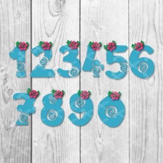 moana numbers svg 324x324 - Mickey and Minnie Monogram SVG DXF