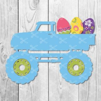 Boy Easter Truck SVG 324x324 - Easter Monster Truck with Easter Bunny SVG DXF PNG Cut Files
