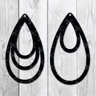 TearDrop Earring SVG