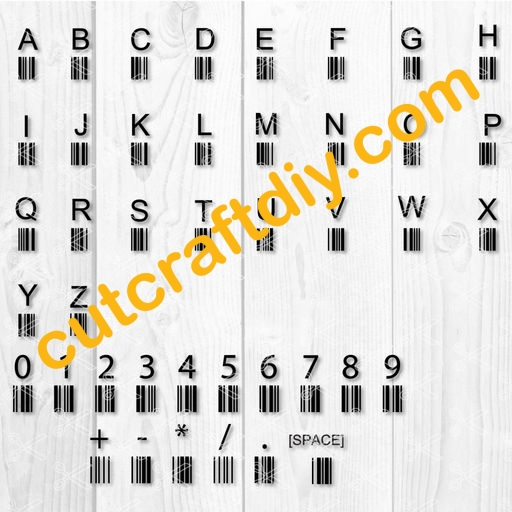 aee37ced8 Barcode Tattoo - Barcode Font SVG PNG DXF