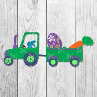 easter tractor svg