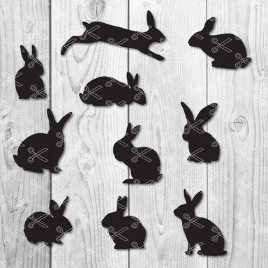 Easter bunny rabbit svg
