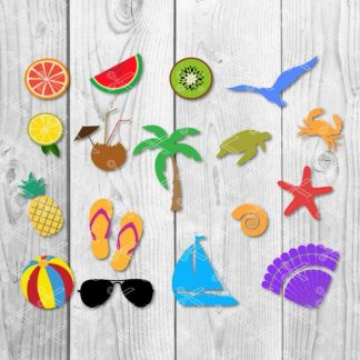 summer svg 324x324 - Pineapple Sunglasses SVG PNG DXF Cut Files
