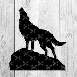 Howling wolf svg
