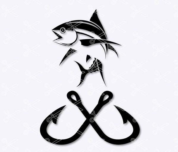 Fish hook svg