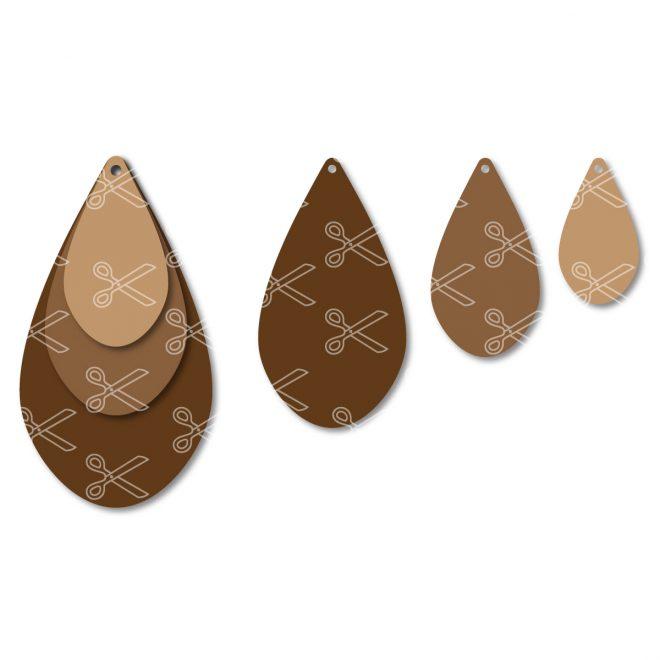 Stacked TearDrop Earrings SVG-