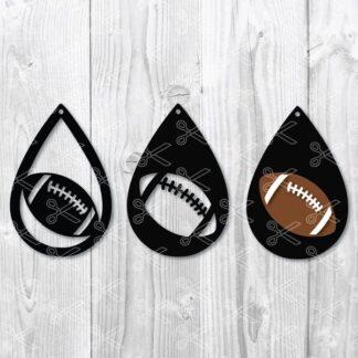 Football ball TearDrop Earring SVG
