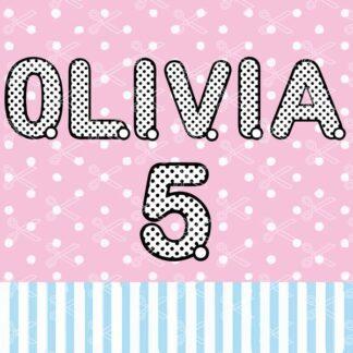 Polka Dot Letters SVG
