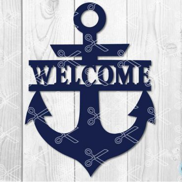 Anchor Welcome Sign SVG DXF PNG Cut Files