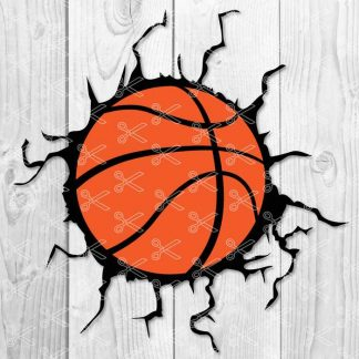 Basketball Crack SVG Cut File