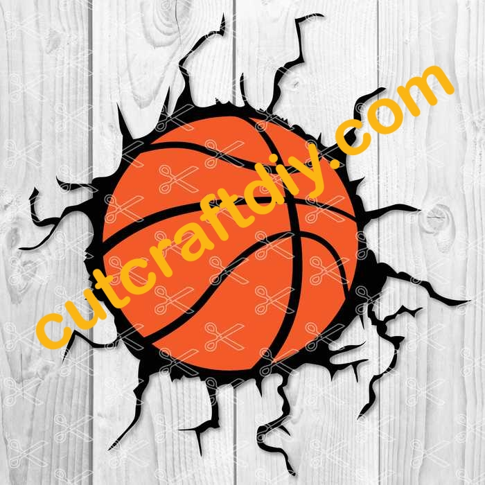 Basketball Crack SVG Cut File