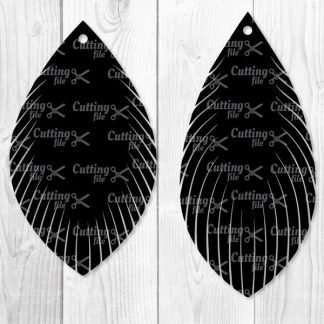 Feather Fringe Earring SVG