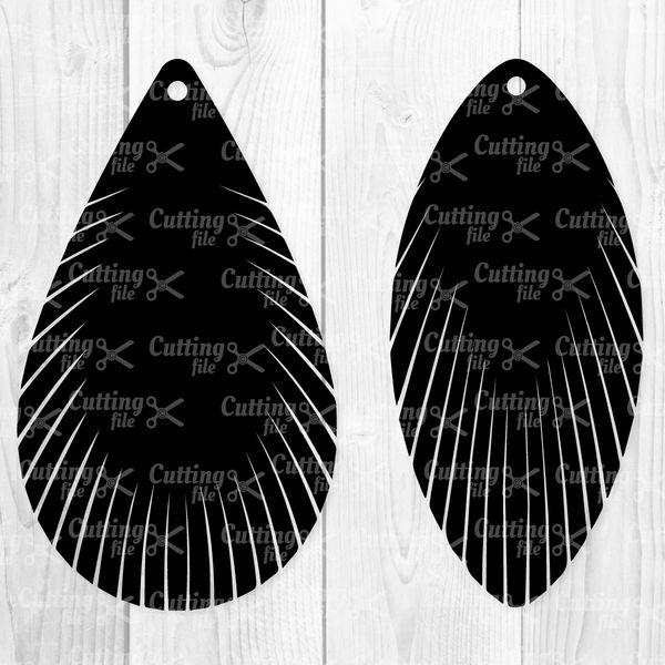 4183f8f68 Feather Fringe Earring SVG DXF PNG - TearDrop SVG Cut Files
