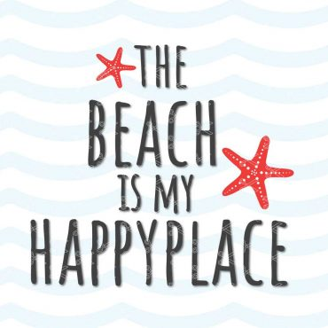 the beach is my happy place svg